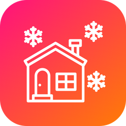 House, Snowfall, Christmas, Xmas, Snow, Snowflame, Winter Icon