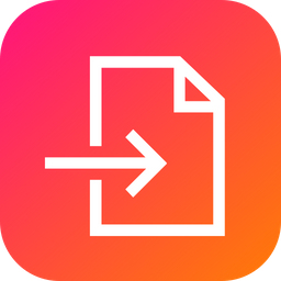 Import, Enter, Inside, In, Arrow, File Icon