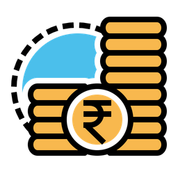 Indian, Rupee, Money, Coins, Cash, Finance Icon png