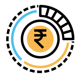 Indian, Rupee, Money, Currency, Finance, Business Icon