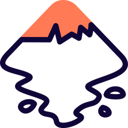 Inkscape Colored Outline  Logo Icon