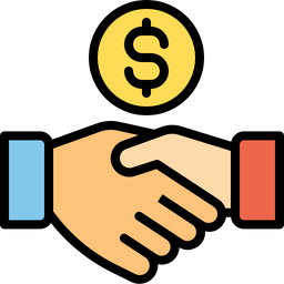 Free Investment deal Icon of Colored Outline style - Available in SVG, PNG, EPS, AI & Icon fonts