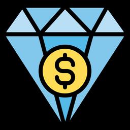 Investment in diamond Icon