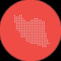 Iran, Iranian, Country, Map, Location, Navigation, Nation Icon