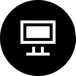 IT, Software, Computer, Display, Screen, Monitor Icon