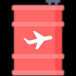 Jet fuel Flat Icon