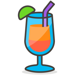 Juice Emoji Icon of Colored Outline style - Available in SVG