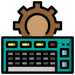 Keyboard Service Colored Outline Icon
