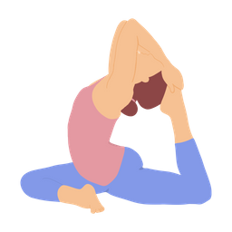 King Pigeon Pose Icon