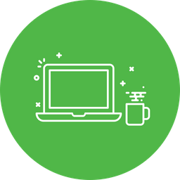 Laptop, Coffee, Time, System, Startup, Culture Icon