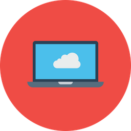 Laptop, Computer, Device, Cloud, Data, Storage, Online Icon