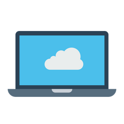 Laptop, Computer, Device, Cloud, Data, Storage, Online Icon png