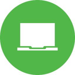 Laptop, Device, Computer, Screen, Monitor Icon