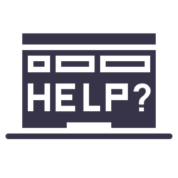 Laptop, Device, Help, Error, Rescue, Window, Browser Icon