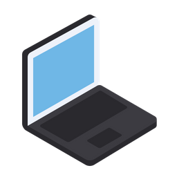 Laptop, Screen, Device, View, Isometric, Grid, 3d Icon