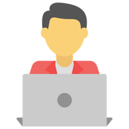 Laptop User Icon Of Flat Style Available In Svg Png Eps Ai Icon Fonts