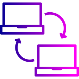 Laptop, Wireless, Connection, Data, Sharing, Sync Icon