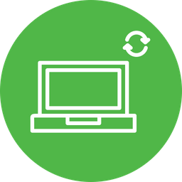 Laptop, Wireless, Device, Data, Sharing, Sync, Network Icon