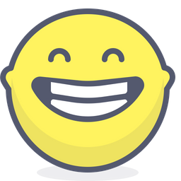 Laughing Colored Outline  Emoji Icon