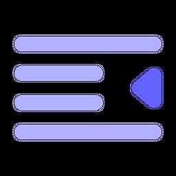 Left-alignment Flat Icon