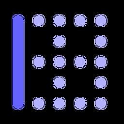 Left-border Flat Icon