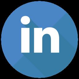 LinkedIn Flat  Logo Icon