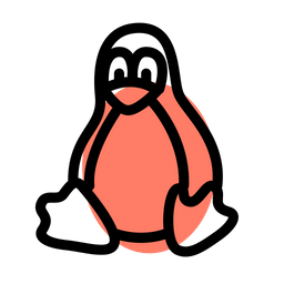 Linux Colored Outline  Logo Icon