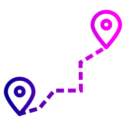 Location, Navigation, Pin, Marker, Logistic, Delivery, Detaination, Source Icon