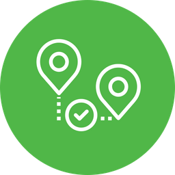 Location, Path, Way, Verify, Approve, Map, Pin Icon