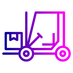 Logistic, Delivery, Shipping, Luggage, Parcel, Boxes, Transport, Forklift Icon