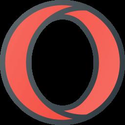Opera Colored Outline Icon