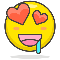 Love Emoji Icon of Colored Outline style - Available in SVG
