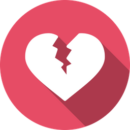 Free Love Breakup Valentine Valentines Day Broken Heart Icon