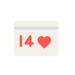 Love, Romantic, Valentine, Day, Celebration, Event, February Icon