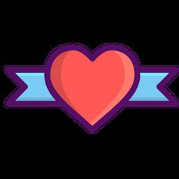 Love, Romantic, Valentine, Day, Heart, Ribbin, Gift Icon