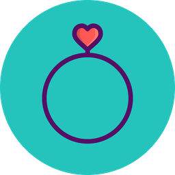 Love, Romantic, Valentine, Day, Heart, Wedding, Ring Icon