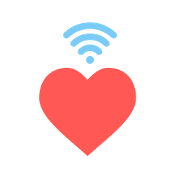 Love, Romantic, Valentine, Day, Heart, Wifi, Wireless, Signal Icon