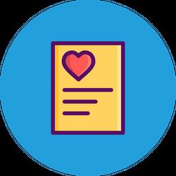 Love, Romantic, Valentine, Day, Letter, Heart, Poem Icon