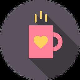 Love, Romantic, Valentine, Day, Mug, Cup, Coffee Icon