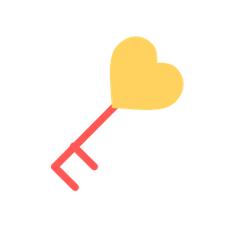 Love, Romantic, Valentine, Heart, Key, Relationship, Unlock Icon