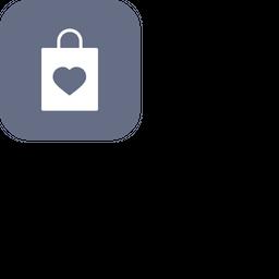 Love, Romantic, Valentine, Valentines, Day, Carry, Bag Icon