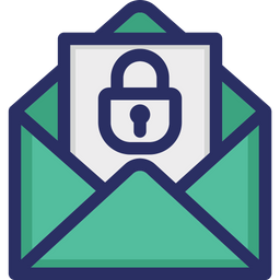 Mail Security Colored Outline Icon