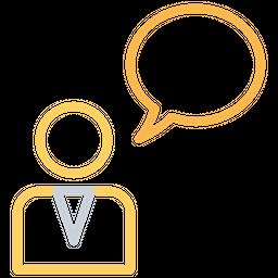 Male, Person, User, Chat, Message, Bubble, Thinking, Idea Icon