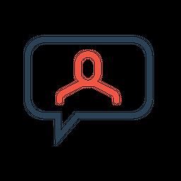 Man, Employee, Message, Chatting, Talk, Bubble, Conversation Icon