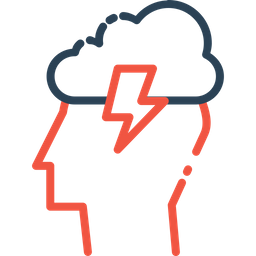 Man, Person, Idea, Innovation, Invention, Cloud, Lightning Icon