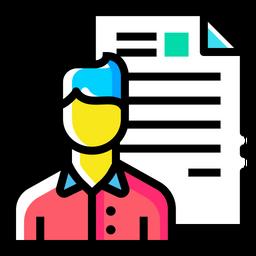 Man, Resume, Document, Employee, Shortlisted, Portfolio, Avatar Icon