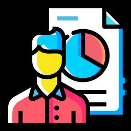 Man, Statics, Analysis, Performance, Document, Chart, Progress Icon