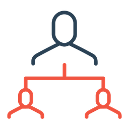 Manager, Employee, Boss, Company, Structure, Hierarchy, Command Icon