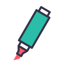 Marker, Paint, Tube, Highlighter, Stationary, Material, Equipment Icon