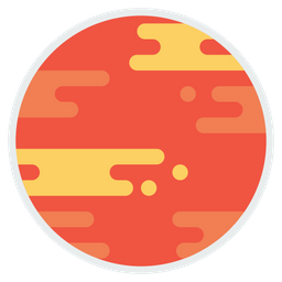 Mars, Planet, Astrology, Solar, System, Second, Smallestterrestrial Icon